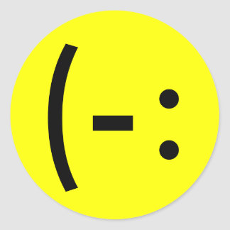 Simple Happy Face Smiley Round Sticker