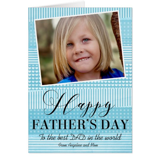 """Simple """"Happy Father's Day"""" Modern Greeting Card"""