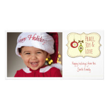 Simple Happy Holidays Personalised Photo Card