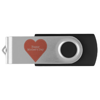 Simple Happy Mothers Day with Heart USB Flash Drive