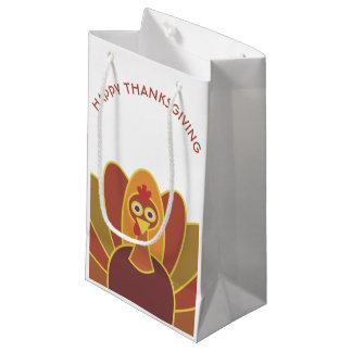 Simple Happy Thanksgiving Turkey | Gift Bag