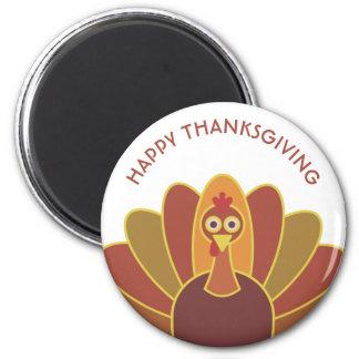 Simple Happy Thanksgiving Turkey | Magnet