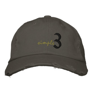Simple Hat Embroidered Hat