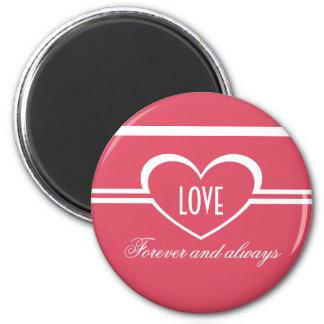 Simple Heart Magnet, Dark Pink