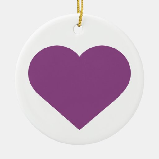 Simple Heart Plum Purple Modern Contemporary Christmas Tree Ornament