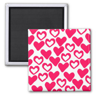 Simple Hearts 2014 Square Magnet