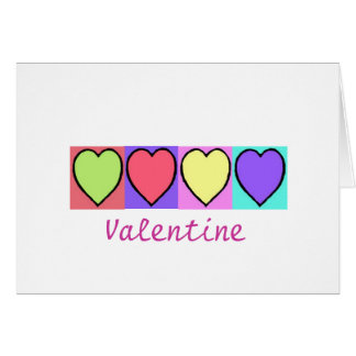 Simple hearts greeting card