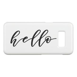 Simple Hello Design in Beautiful Typography Script Case-Mate Samsung Galaxy S8 Case
