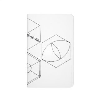 Simple Hexagons Pocket Journal