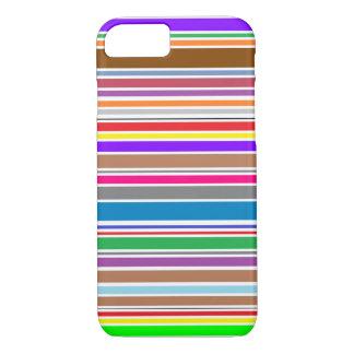 Simple horizontal color stripes iPhone 7 Case