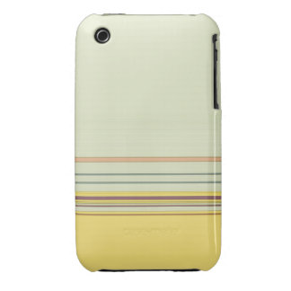 Simple Horizontal Striped - Yellow and Green iPhone 3 Case-Mate Case