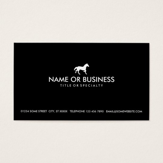 simple horse business card