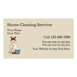 227 Cleaning Lady Business Cards and Cleaning Lady