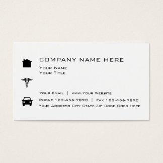 Simple Insurance Broker Business Card