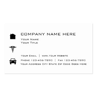 Simple Insurance Broker Pack Of Standard Business Cards