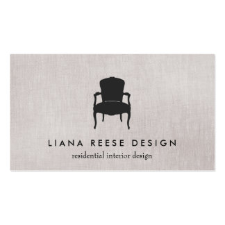 Simple Interior Design French Chair Logo Taupe Pack Of Standard Business Cards