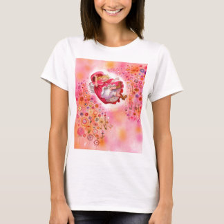Simple Joys- Happy Flowers Afternoon little red T-Shirt