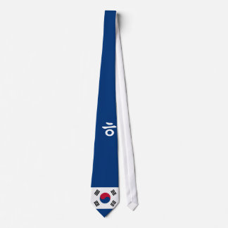 Simple Korean Hangul Tie with flag