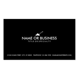 simple lawn mower business card template