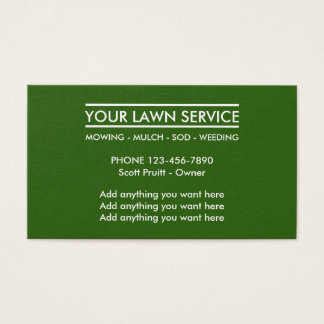 Simple Lawn Services Business Card