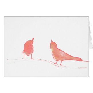 Simple life - two birds chatting ;-) card