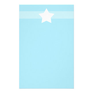 Simple light Blue star Stationary Stationery