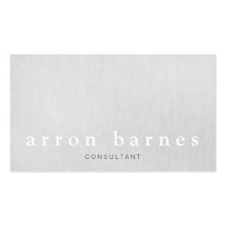 Simple Light Gray Modern Minimalist Designer Pack Of Standard Business Cards