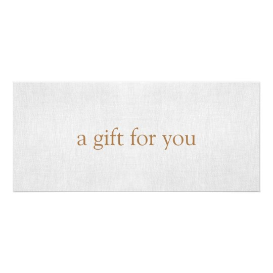 SIMPLE Light Grey Gift Certificate