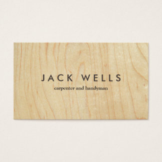 Simple Light Wood Grain Carpenter and Handyman