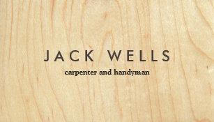 Wood grain business cards business card printing zazzle uk simple light wood grain carpenter and handyman business card colourmoves