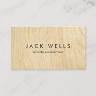 Wood grain business cards zazzle uk simple light wood grain carpenter and handyman business card reheart Image collections