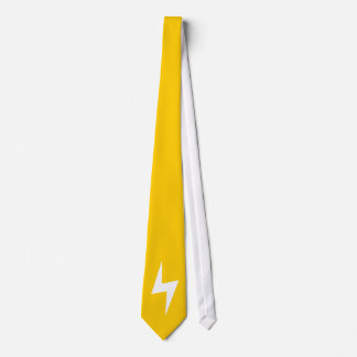 Simple Lightning Bolts Yellow Tie