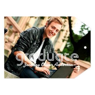 "Simple Line Graduate Graduation Photo Announcement 5"" X 7"" Invitation Card"