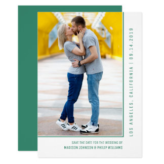 Simple Line Photo Save the Date | Green Card