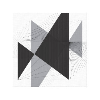 Simple Lines and Triangles on Canvas