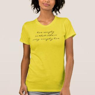 simple living tshirts