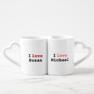 simple 'love each other' idea coffee mug set