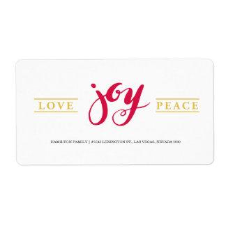 Simple Love Joy Peace label