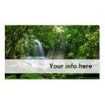 Simple lush waterfall business card