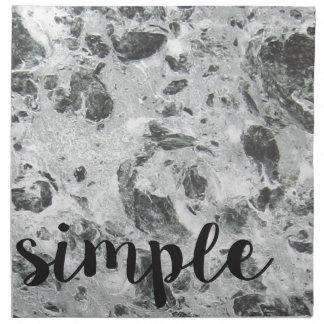 Simple marble napkin