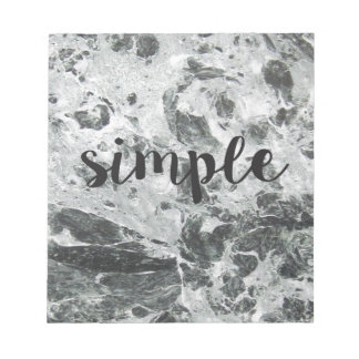 Simple marble notepad