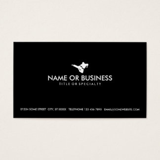 simple martial arts business card