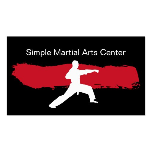 Simple Martial Arts Business Cards
