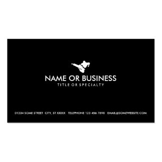 simple martial arts pack of standard business cards