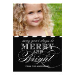 SIMPLE MERRY AND BRIGHT PHOTO FLAT CARD | BLACK