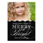 SIMPLE MERRY AND BRIGHT PHOTO FLAT CARD | BLACK INVITATIONS