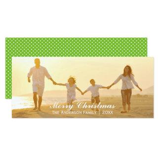 Simple Merry Christmas - 4x8 Christmas Card 10 Cm X 24 Cm Invitation Card