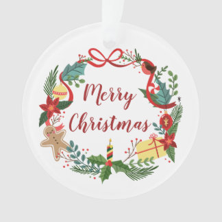 Simple Merry Christmas Wreath | Ornament