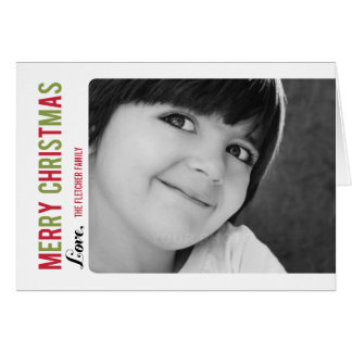 Simple Message Christmas/ Holiday Photo Card Cards