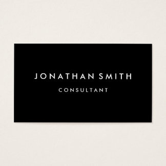 Simple minialist modern professional business card